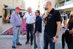 Niki Lauda, Mercedes; Dr. Helmut Marko, Red Bull; Alain Prost, Lotus F1 Team