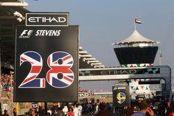 Grid board for Will Stevens, Manor Marussia F1 Team