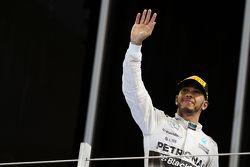 Second place Lewis Hamilton, Mercedes AMG F1 W06