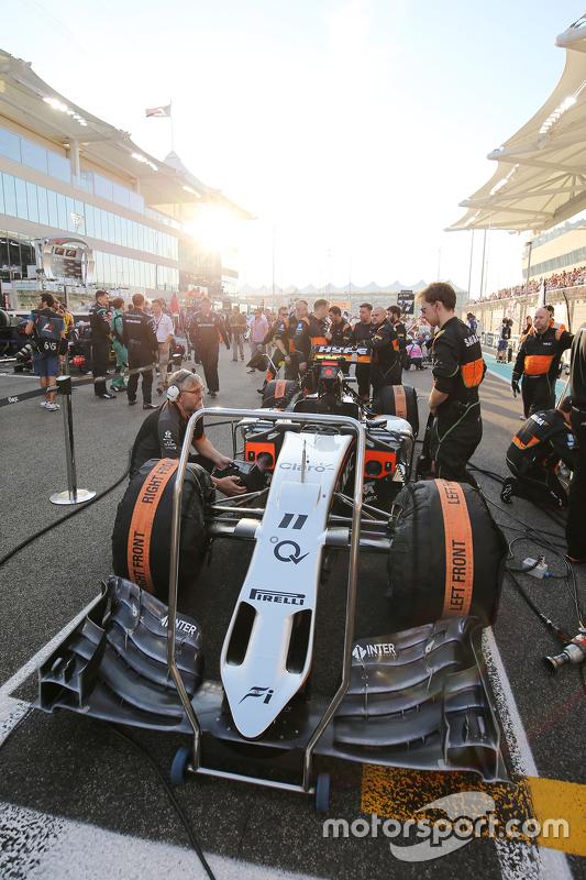 Sahara Force India F1 VJM08 van Sergio Perez, Sahara Force India F1 op de grid