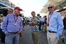 Niki Lauda, Mercedes Non-Executive Chairman, e Donald Mackenzie, CVC Capital Partners Managing Partn
