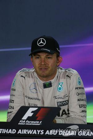 Race winner Nico Rosberg, Mercedes AMG F1 in the FIA Press Conference