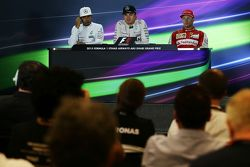 The post race FIA Press Conference, Race winner Nico Rosberg, Mercedes AMG F1 Team, second place Lew