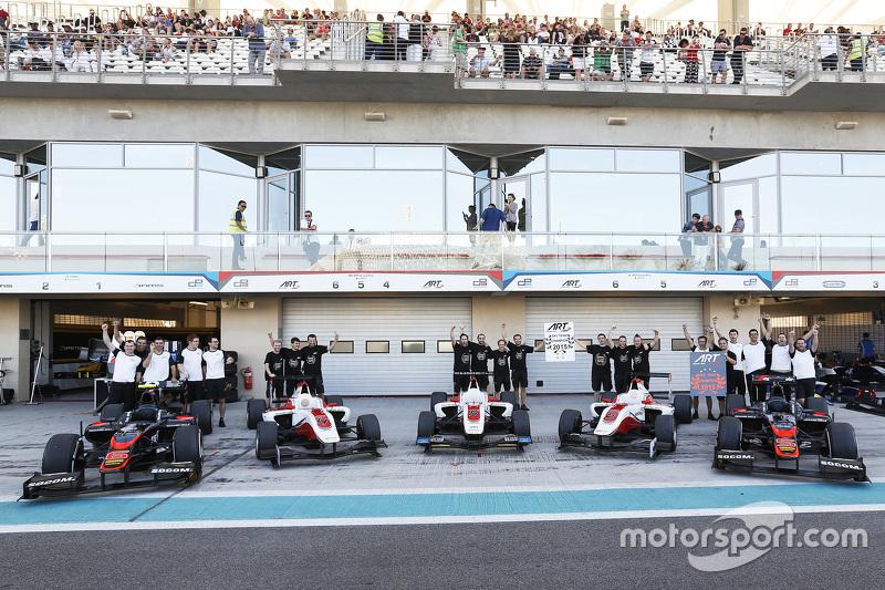 ART Grand Prix feiert den Titelgewinn in der GP2 und in der GP3