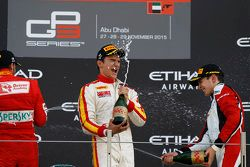 Race 2 Podium: second place Antonio Fuoco, Carlin and winner Alex Palou, Campos Racin and third plac