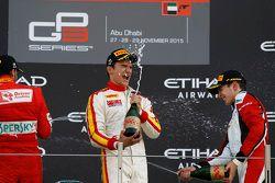 Race 2 Podium: second place Antonio Fuoco, Carlin and winner Alex Palou, Campos Racin and third place 2015 GP3 champion Esteban Ocon, ART Grand Prix