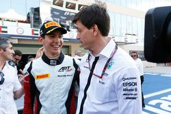 2015 GP3 champion Esteban Ocon, ART Grand Prix with Toto Wolff