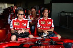 Kimi Raikkonen et Sebastian Vettel, Ferrari