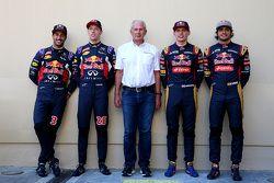 Daniel Ricciardo and Daniil Kyvat, Red Bull Racing and Dr. Helmut Marko and Max Verstappen and Carlo