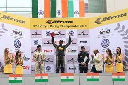 Podium: winner Vishnu Prasad, second place Akhil Rabindra, third place Krishnaraaj Mahadik