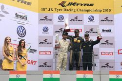 Podium: winner Vishnu Prasad, second place Akhil Rabindra, third place Krishnaraaj Mahadik