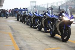 Yamaha YZF-R3 in the pitlane