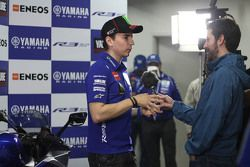 Jorge Lorenzo, Yamaha Factory Racing with the media