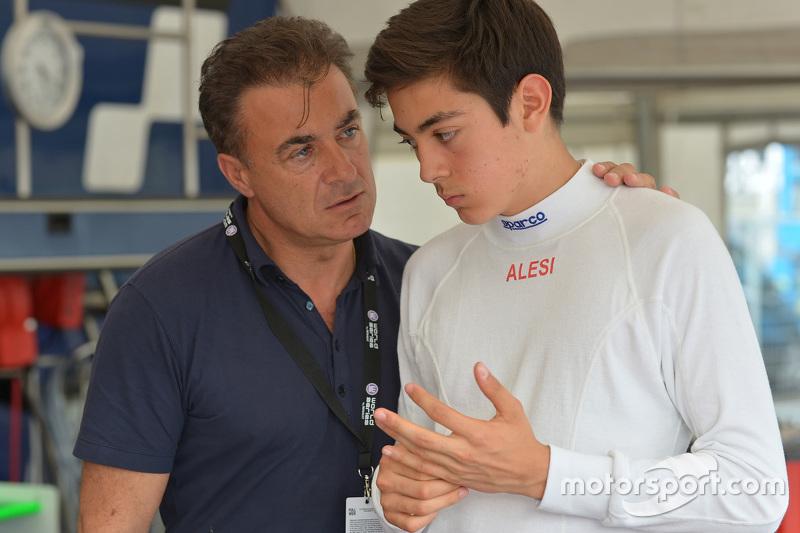 Jean Alesi e suo figlio Giuliano Alesi