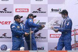 Podium: winner Sailesh Bolisetti, second place Ishaan Dodhiwala, third place Anindith Reddy