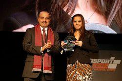 QMMF President Nasser Khalifa Al-Attiyah en Francesca Valdani