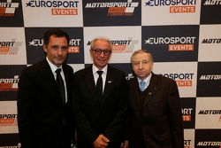 Hoofd Eurosport Events Francois Ribeiro, FIM President Vito Ippolito, FIA President Jean Todt