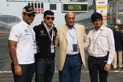 Karun Chandhok, Armaan Ebrahim, Raghupathi Singhania, Chairman & Managing Director of JK Tyres and Arjun Maini