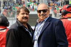 Sanjay Sharma, Head of JK Motorsport with V. K. Misra, JK Tyres Technical Director