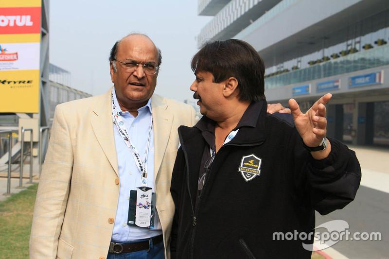 Sanjay Sharma, Head of JK Motorsport with Raghupathi Singhania, Chairman & Managing Director of JK Tyres