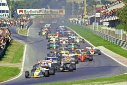 Start: Keke Rosberg, Williams aan de leiding