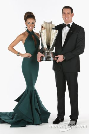 Samantha Busch and 2015 NASCAR Sprint Cup Champion Kyle Busch