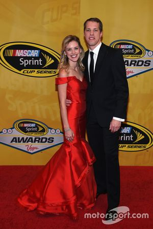 Brad Keselowski, Team Penske Ford with girlfriend Paige White