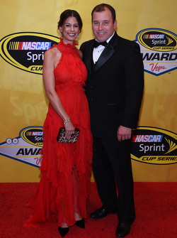 Ryan Newman, Richard Childress Racing Chevrolet with wife Krissie