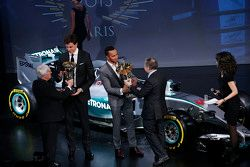 Lewis Hamilton, Mercedes AMG F1, Bernie Ecclestone, Toto Wolff, Mercedes AMG F1 Shareholder and Executive Director and Jean Todt, FIA President