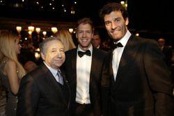Jean Todt, Président de la FIA, Sebastian Vettel, Scuderia Ferrari et Mark Webber, Porsche Team
