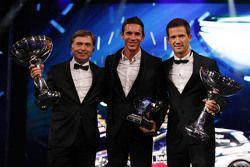Sébastien Ogier with Julien Ingrassia, Volkswagen Motorsport and Jost Capito, head of Volkswagen Mot