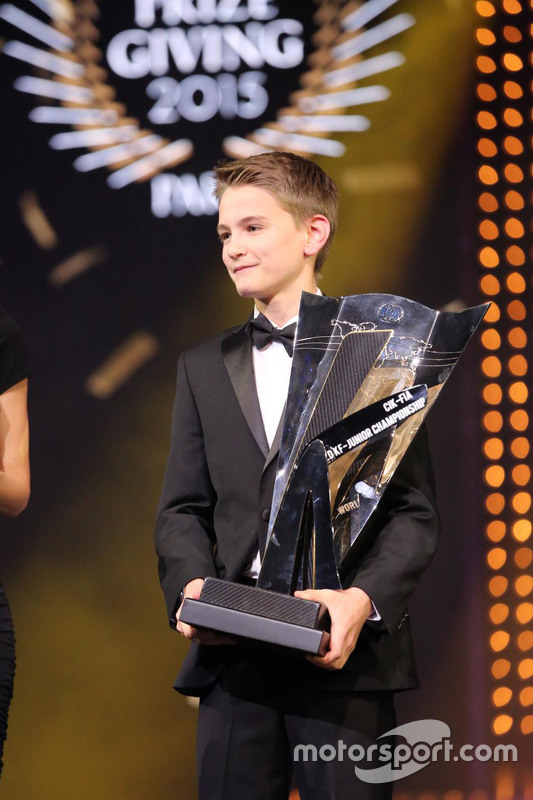 Logan Sargeant, KF Junior CIK-FIA World Karting Champion