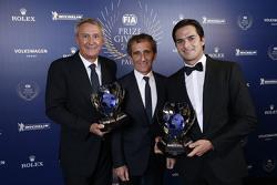Alain Prost, Jean-Paul Driot y Nelson Piquet Jr.