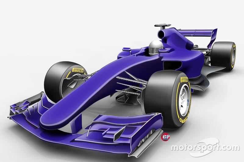 Designstudie Formel 1 2017