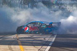 2015 V8 Supercars Champion Mark Winterbottom, Prodrive Racing Australia Ford celebrates with doughnu