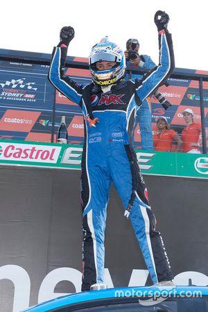 2015 V8 Supercars Champion Mark Winterbottom, Prodrive Racing Australia Ford celebrates in parc ferm