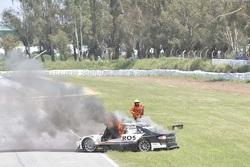 L'incendie de la voiture de Mauro Giallombardo