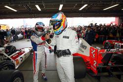 Fernando Alonso and Takuma Sato