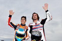 Marc Marquez and Fernando Alonso