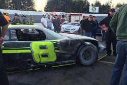 The burnt car of John Hunter Nemechek