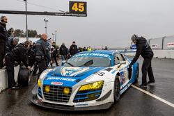 Overall winner #45 Flying Lizard Motorsports Audi R8 LMS: Darren Law, Tomonobu Fujii, Johannes van O