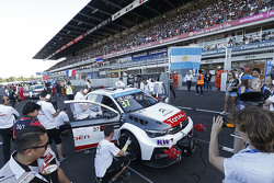 Jose Maria Lopez, Citroën C-Elysee WTCC, Citroën World Touring Car team on the starting grid