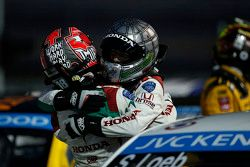 Tiago Monteiro, Honda Civic WTCC, Honda Racing Team JAS and Gabriele Tarquini, Honda Civic WTCC, Hon