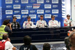 Pressekonferenz: Tin Sritrai, Campos Racing; Sébastien Loeb, Citroën World Touring Car Team; Jose M