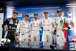 Pressekonferenz: Tin Sritrai, Campos Racing; Sébastien Loeb, Citroën World Touring Car Team; Jose Ma