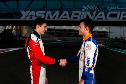 Esteban Ocon, ART Grand Prix, ve Luca Ghiotto, Trident Racing