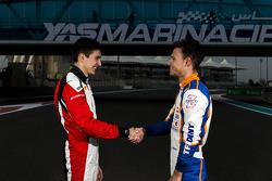 Эстебан Окон, ART Grand Prix, и Лука Гьотто, Trident Racing