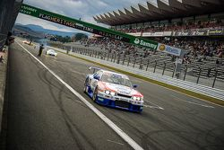 On track action with a Nissan GT-R R32