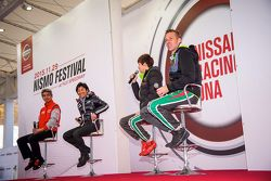 Nissan drivers talk to fans at the Nismo Festival