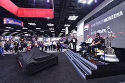 Juan Pablo Montoya and Bobby Unser speak at the PRI Show